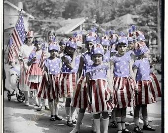 Parade Girls Instant Download Vintage Photograph