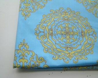 Medallion Fabric, Wooster and Prince Good Life Collection Organic Cotton Fabric, Half Yard, Robert Kaufman, OOP