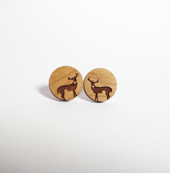 Wild Buck Post Earrings