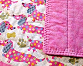 Quilted Placemats, Dog Placemats, Dachsund, Pink Placemats, Kids Placemats, Dog Decor, Fabric Placemat, Weiner Dog Decor, Dachsund Decor
