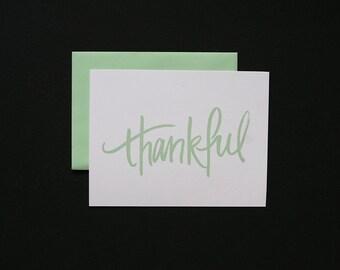 Thank You Cards / Thankful / Simple + Minimal + Modern - set of 6