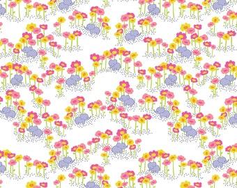 Sundaland Jungle - Pygmy Elephants in Pink by Katy Tanis for Blend Fabrics