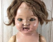 Vintage Scary Cracked Doll