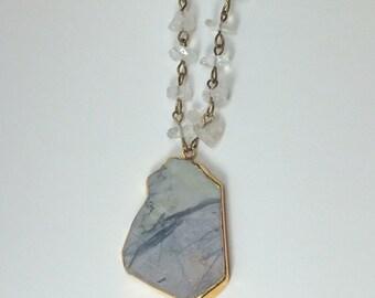 Agate Slice Necklace