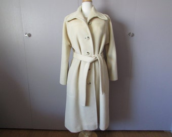 Cream Wool Coat From Fashionfila