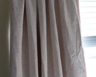 Clearance Pink and White Good Night Moon Rod Pocket Curtain Panels
