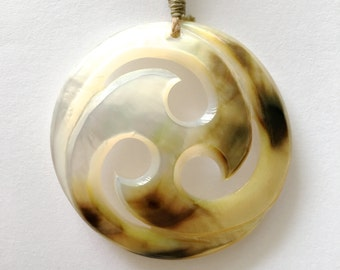 Leopard Print Surfer Maori Koru Necklace-FREE SHIPPING