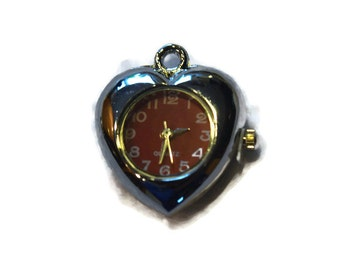 Heart Watch PENDANT for Beading Jewelry Finding Supply
