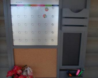 Command Center/Kitchen organizer/ Magnetic Calendar/ Message Center/Kitchen Decor/Office Decor /Magazine Holder/Family Message Board