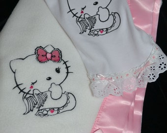 Gown and blanket set