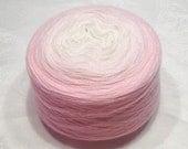 Gradient yarn extra fine merino yarn lace weight yarn handdyed yarn 100g (3.5oz) - Ethereal Spring