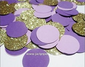 Purple, Lavender & Gold Glitter, Party Confetti, Wedding Table Scatter, Sweet 16, Girls Birthday Party, Dessert Table Decoration, 150 Pieces