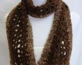 brown alpaca scarf raised in Montana