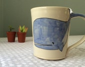 Large Whale Coffee Mug Handmade Coffee Cup Extra Large Cute Mug Handmade Pottery Mug Home and Kitchen Ceramics And Pottery Tea Cup