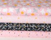 Organic Designer Cotton Bundle of 4 Cloud9 Fabrics, Quilting Weight Cotton, Glint Collection