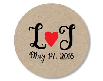 Wedding Sticker, Wedding Favor Sticker, Wedding Thank You Sticker, Kraft Sticker, Welcome Sticker, Kraft Thank You Sticker, Rustic Sticker