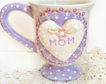 Gift for Mother's Day - Personalized Mom Tea Cup - Teacup for Mom - Coffee Mug Gift For Mom -  Shabby Chic Tea Cup - Gift for Mom - Mug
