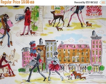 ON SALE Colorful Who's That Girl 3 Print Pure Cotton Fabric--One Yard