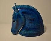 Horse head, by Aldo Londi for Bitossi. Piece for collectors.