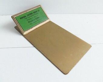 Vintage Advertising Clipboard, Metal Clipboard, Receipt Holder