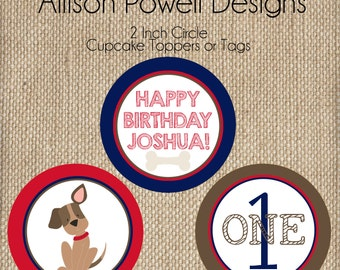 Puppy-Dog-Puppy Dog Birthday Party Cupcake Toppers
