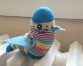 Organic Cotton Sock Bird- Raising Funds for Sock Monkey Therapy