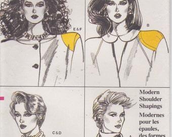 Shoulder Pad Pattern 1980s Modern Shoulder Shapings Camisole Uncut 1986 Vogue 9697