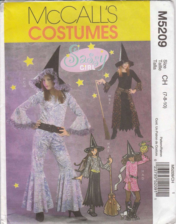 Fun Witch Costume Pattern Sassy Girl Girls Size 7 - 10 Uncut ...