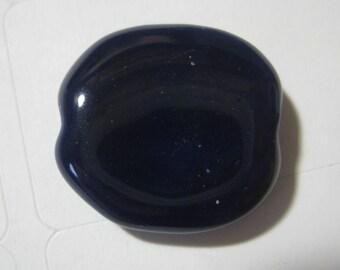 Vintage Porcelain Bead: Handmade Kazuri Large Round Purple Glazed African Ceramic Clay Lentil Coin Bead, Nairobi, Kenya 20x18mm, 1 piece (j)