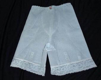Light Blue Nylon Vintage 1950's Garters Girdle Panties Corset S