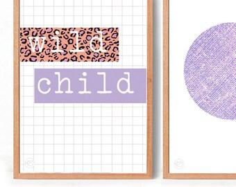 Wild Child Art Print (free Aus shipping)
