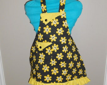 Bees and Flowers Girl's Apron