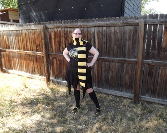 HEAVY DUTY Super Long Hufflepuff Inspired Cosplay Scarf