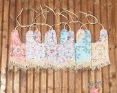 Vintage cotton fringe tassel trim tie boho baby bibs