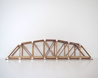 vintage train trestle / architectural / wood bridge/ train collection/two feet in length