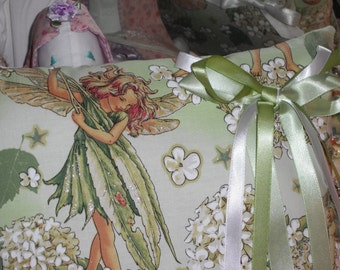 Flower Fairy pillow with ribbons