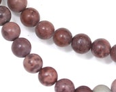 MOVING SALE Crazy Horse Stone (Mostly Mauve) Beads - 6mm Round - Full Strand