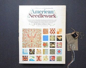 Vintage American Needlework Book of Patterns Instructions Women's Day Simon and Schuster 1963 Sewing Craft Supplies Unused Original Folds