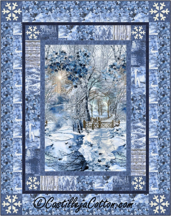 Scenic Snow Fall Lap Quilt Epattern 4910 1 Winter Quilt Lap