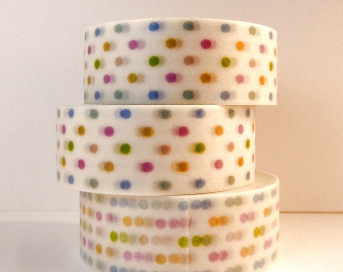 Polka Dot Washi Tape - Paper Tape Great for Scrapbooking Paper Crafts and Decorations - Baby Showers and Celebrations 15mm x 10m