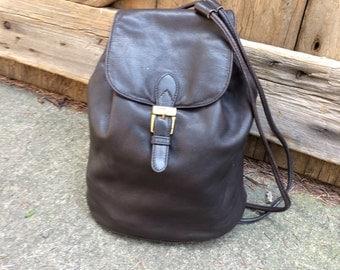 Leather Backpack Rucksack Ralph Lauren Bucket Bag Vintage