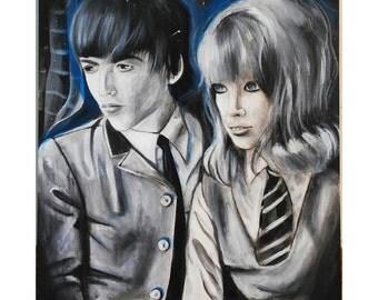 "16"" x 20"" George Harrison and Pattie Boyd Portrait"
