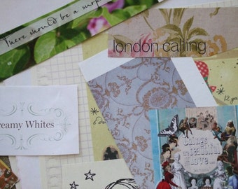 Paper pack - no.4, 5,6,7 - detash - collage papers - smash book papers - journal - collage - cooking papers