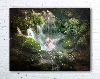 waterfall photography - magical fairy decor - nature photography - waterfall print