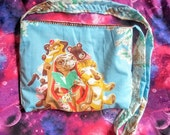 E.T. the movie vintage style upcycled tote bag purse long cross body strap