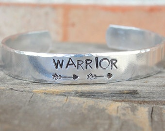 Warrior Bracelet - Warrior Jewelry - Strong Woman - Survivor Jewelry - Religious Jewelry - Cancer Survivor - Arrow Jewelry