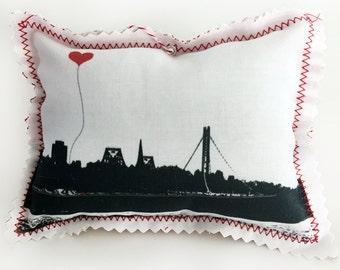 San Francisco Bay Bridge Fabric Ornament
