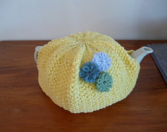 Tea Pot Cozy, Knit Tea Cozy, Teapot Warmer, Cosy for Teapot, 6 Cup Cozy