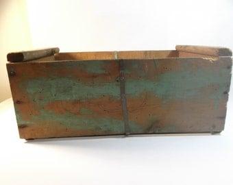SALE Farmhouse Crate, 1950s Wooden Fruit Crate Primitive Wooden Box Rustic Box