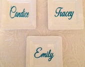 Personalized Jewelry & Ring Tray Dish, Bridesmaids Jewelry Tray, Coaster, Ceramic Dish